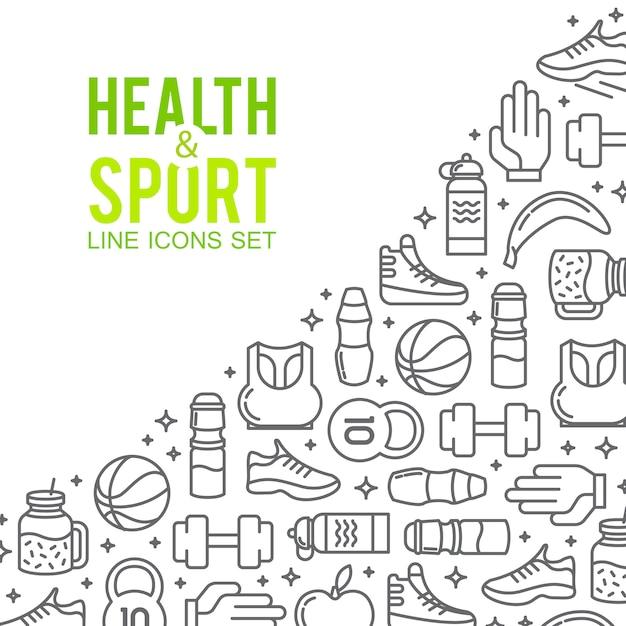 Iconos de los deportes concepto del deporte, de fondo iconos de juegos deportivos vector gratuito