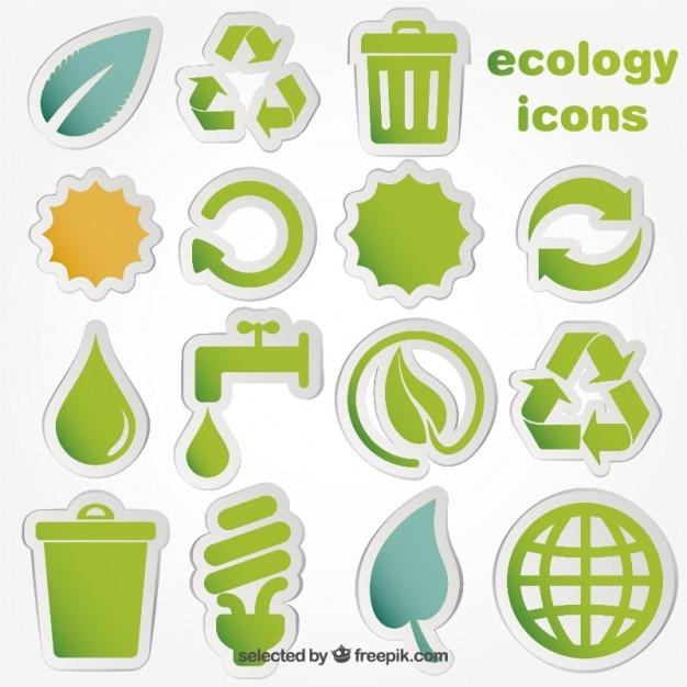 Iconos de la ecología vector gratuito