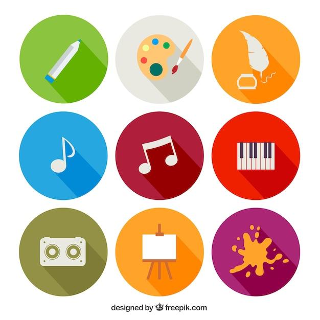 Iconos educativos   Descargar Vectores gratis