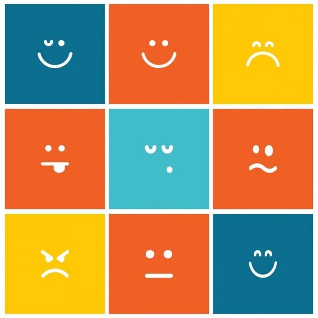 Iconos emoji vector gratuito