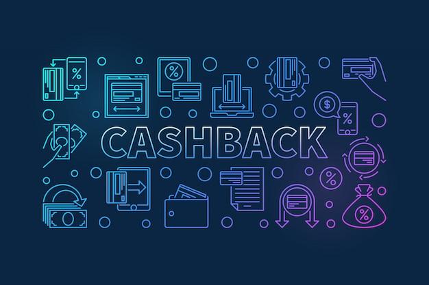 Iconos de esquema de devolución de dinero Vector Premium