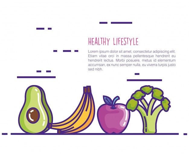 Iconos de estilo de vida saludable vector gratuito