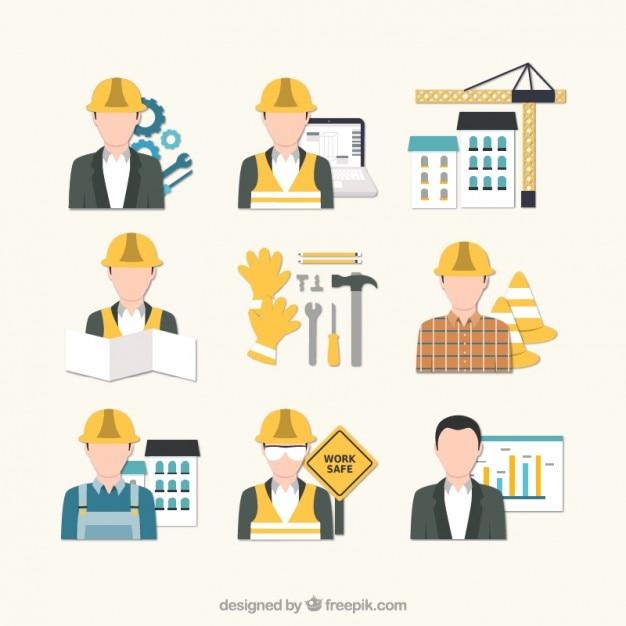 Flooring Contractor Icon : Iconos ingeniero de construcción descargar vectores gratis