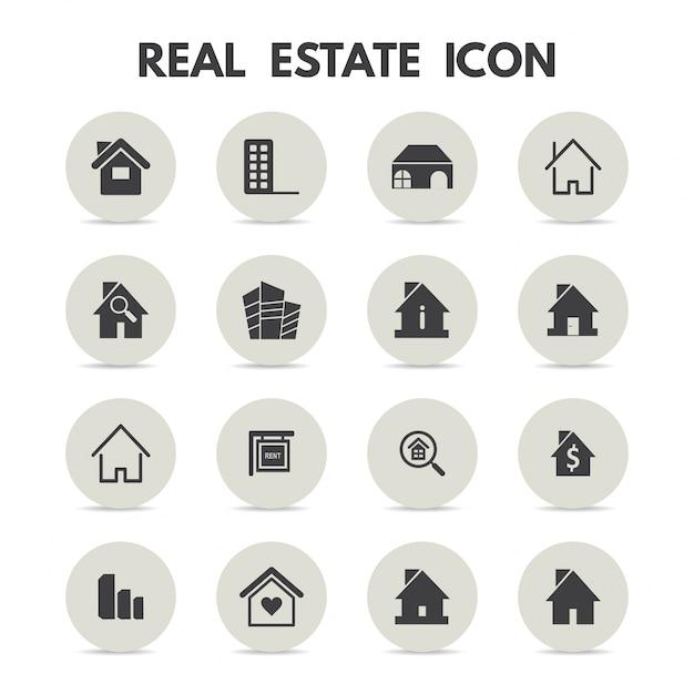 Iconos de inmobiliaria vector gratuito