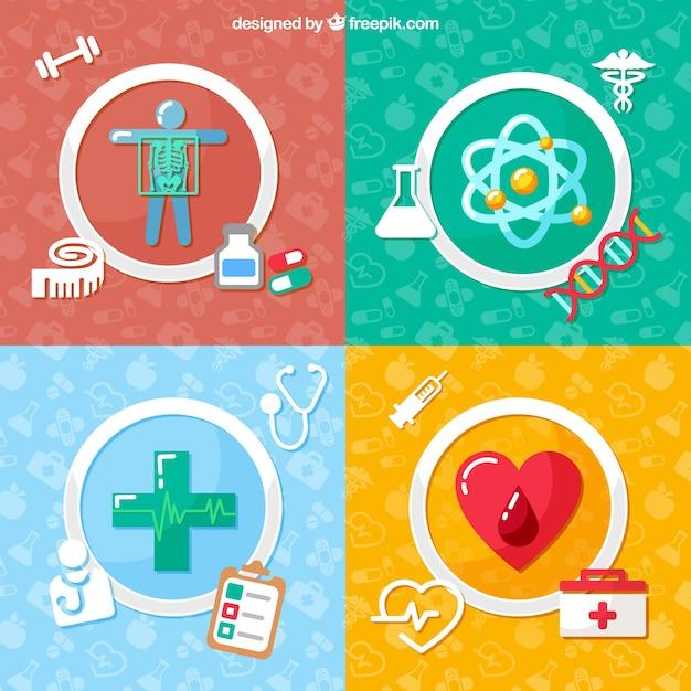 Iconos médicos Vector Premium