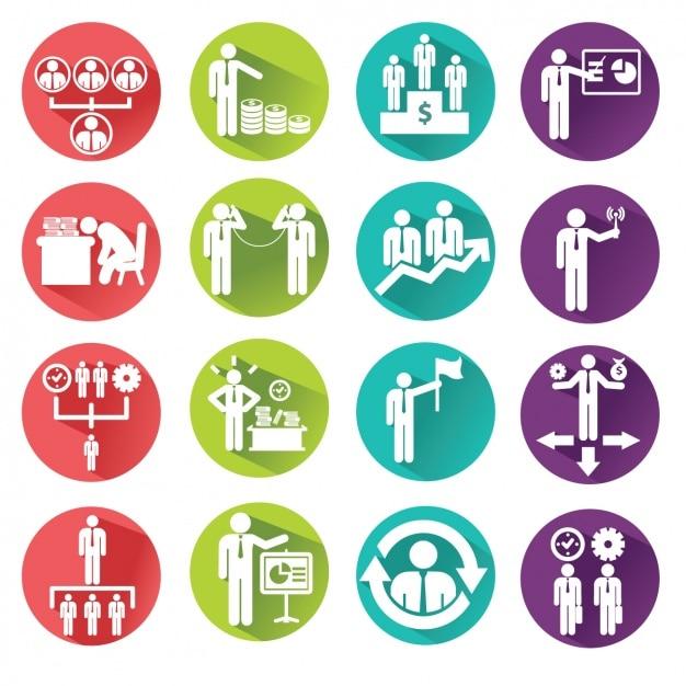 Iconos para los negocios Vector Gratis