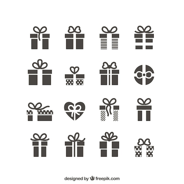 Iconos regalo vector gratuito