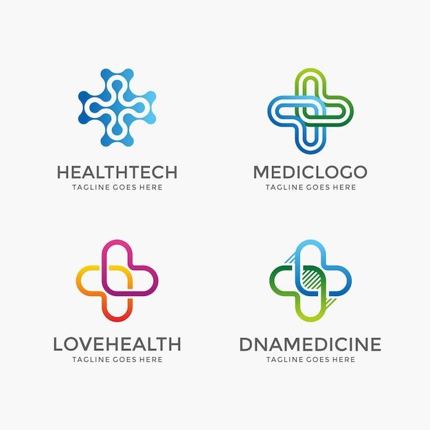 Iconos de salud y farmacia Vector Premium