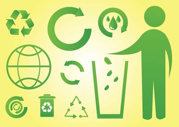 iconos verdes del mundo Vector Gratis
