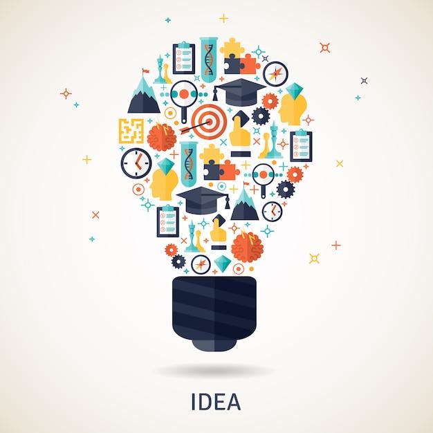Idea concepto ilustración vector gratuito