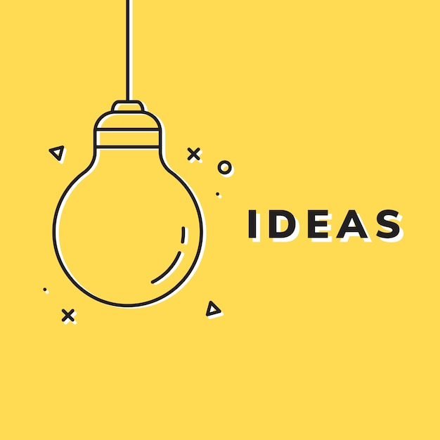 Ideas brillantes y creatividad. vector gratuito