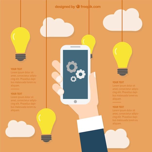 Ideas de negocios para aplicaciones móviles Vector Gratis