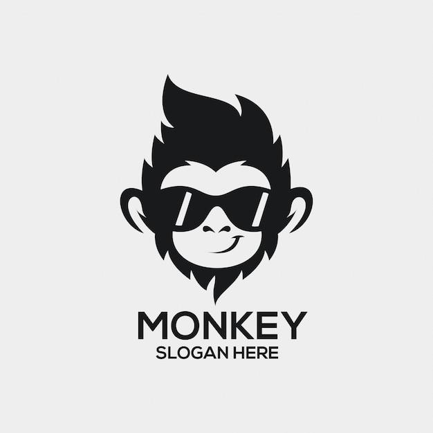 Ideas de logo del mono Vector Premium