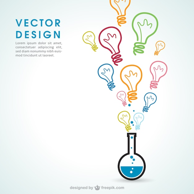 Ideas Química Vector Gratis