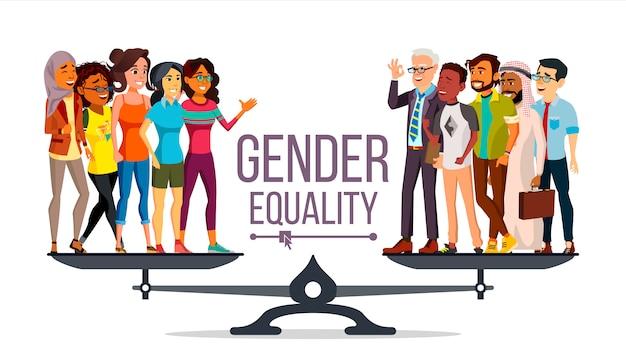 Igualdad de género Vector Premium