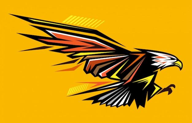 Ilustración abstracta del águila calva Vector Premium
