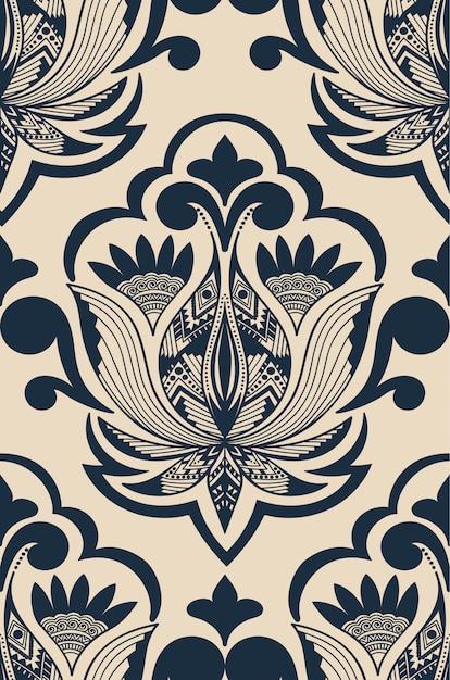 Ilustración abstracta de damasco vector gratuito