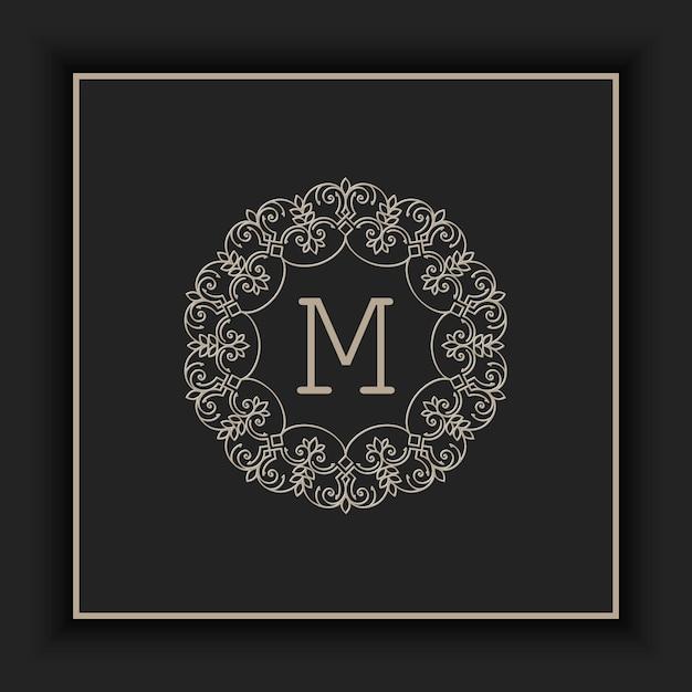 Ilustración abstracta monograma ornamental vector gratuito