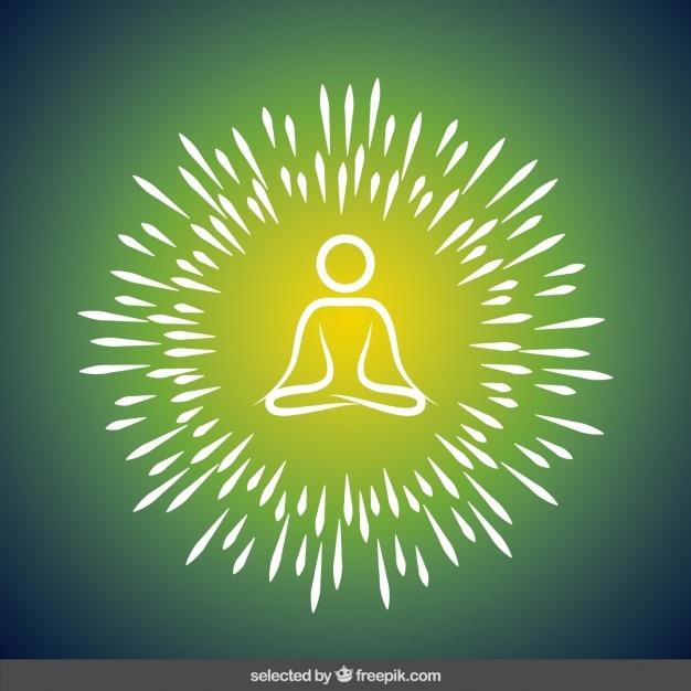 Ilustración abstracta de yoga vector gratuito