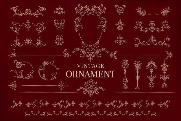 Ilustración de adorno florecer vintage vector gratuito