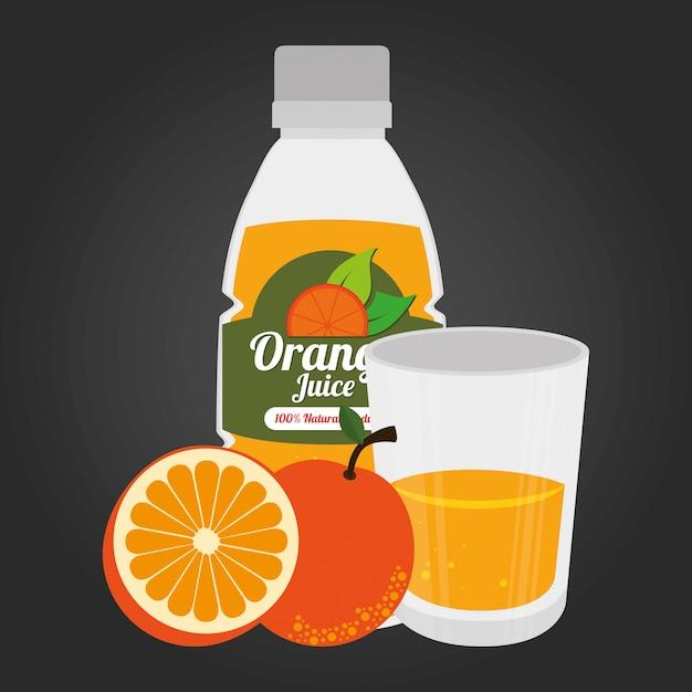 Ilustración de alimentos saludables de frutas vector gratuito