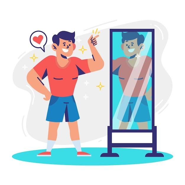 Ilustración de alta autoestima vector gratuito
