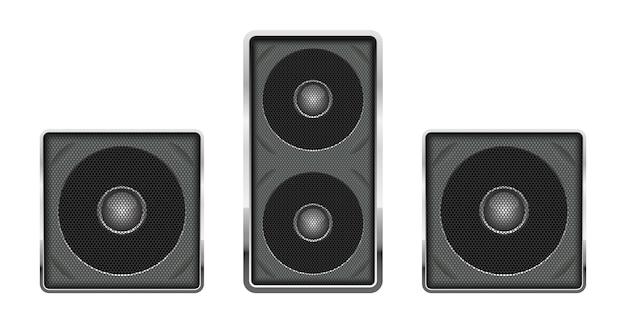 Ilustración de altavoz de audio sobre fondo blanco. Vector Premium