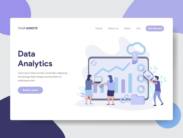 Ilustración de análisis de datos para páginas web Vector Premium