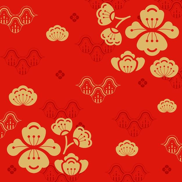 Ilustración de año nuevo chino vector gratuito