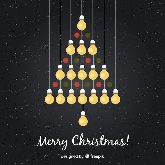 6c9c688ba39 Ilustración árbol de navidad bombillas colgando