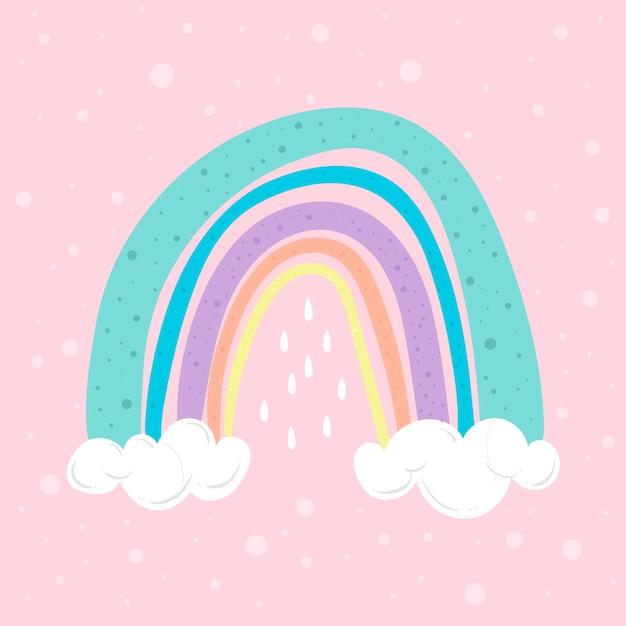 Ilustración del arco iris vector gratuito
