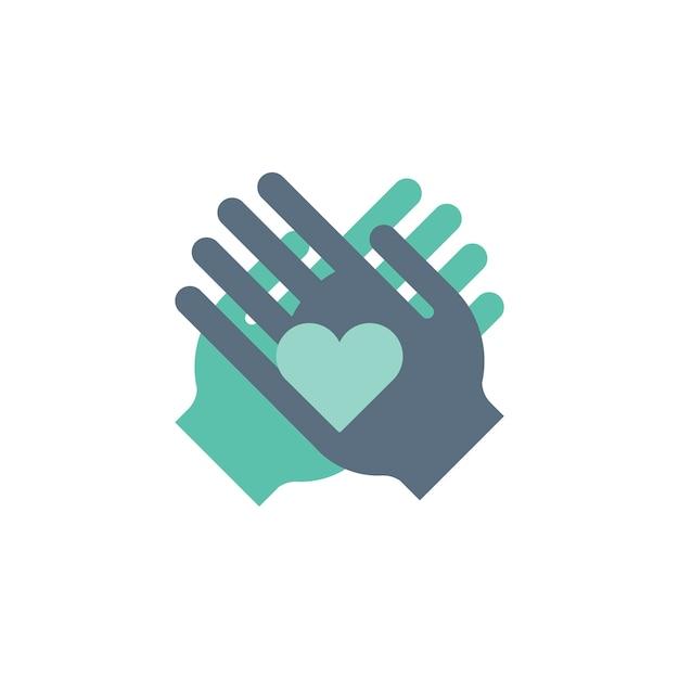 Ilustración de ayudar a las manos iconos de apoyo vector gratuito