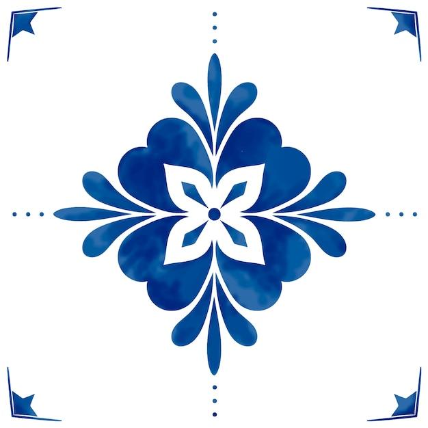 Ilustración de azulejos con textura patrón vector gratuito
