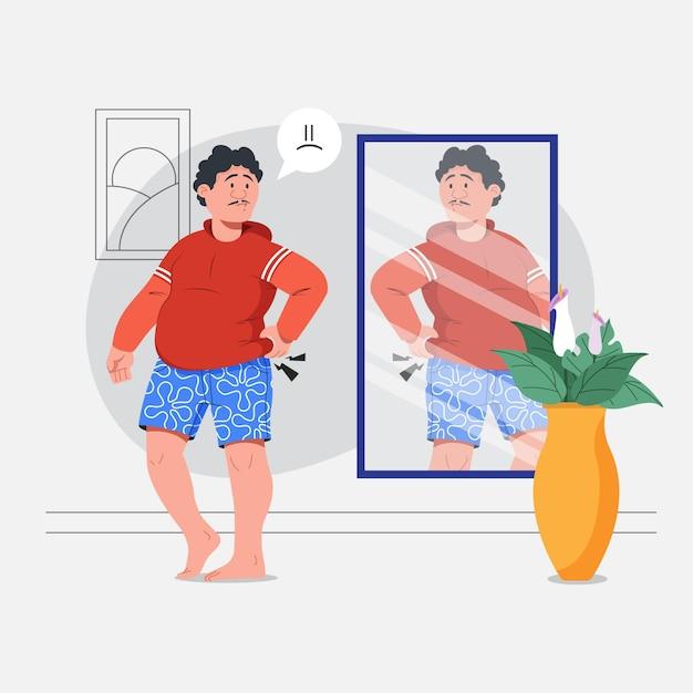 Ilustración de baja autoestima vector gratuito