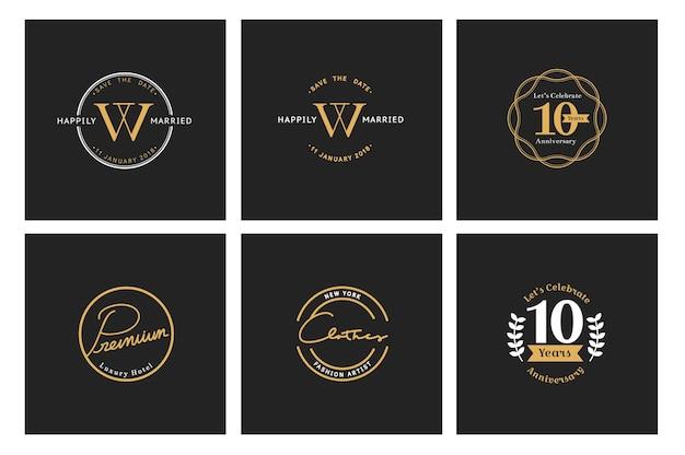 Ilustración de la bandera de la estampilla del logotipo de tienda comercial vector gratuito
