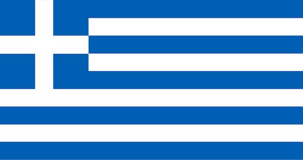 Ilustración de la bandera de grecia vector gratuito