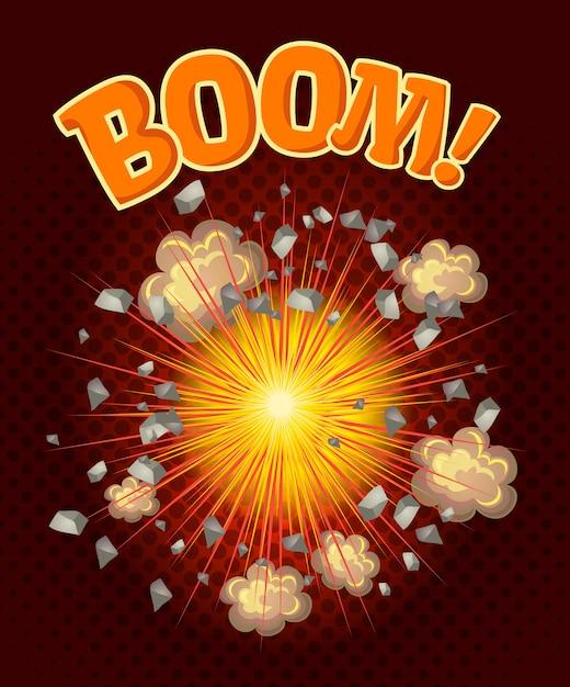 Ilustración de big cool explosion vector gratuito