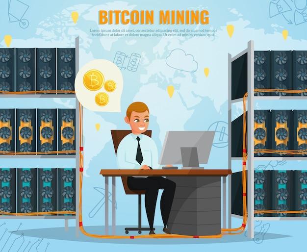 Ilustración de bitcoin de criptomoneda vector gratuito