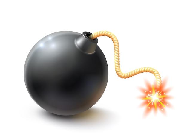 Ilustración de bomba realista vector gratuito