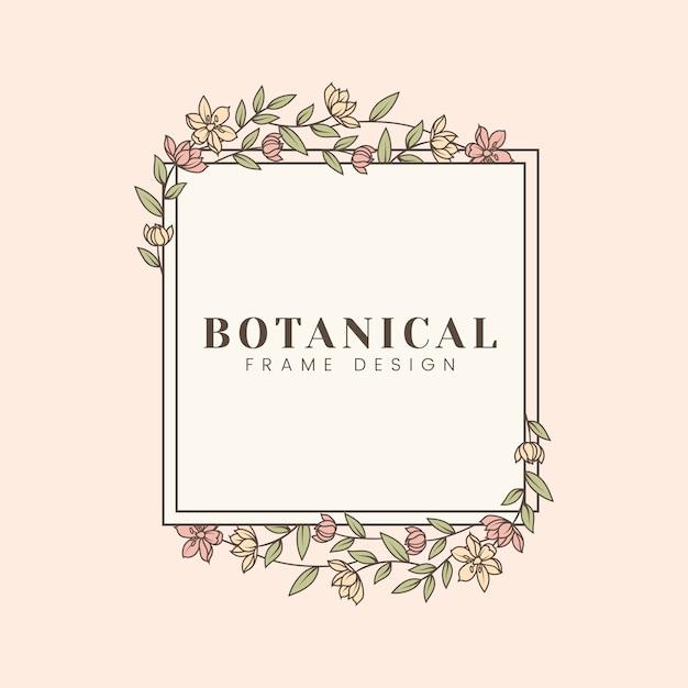 Ilustración botánica floral de la maqueta vector gratuito