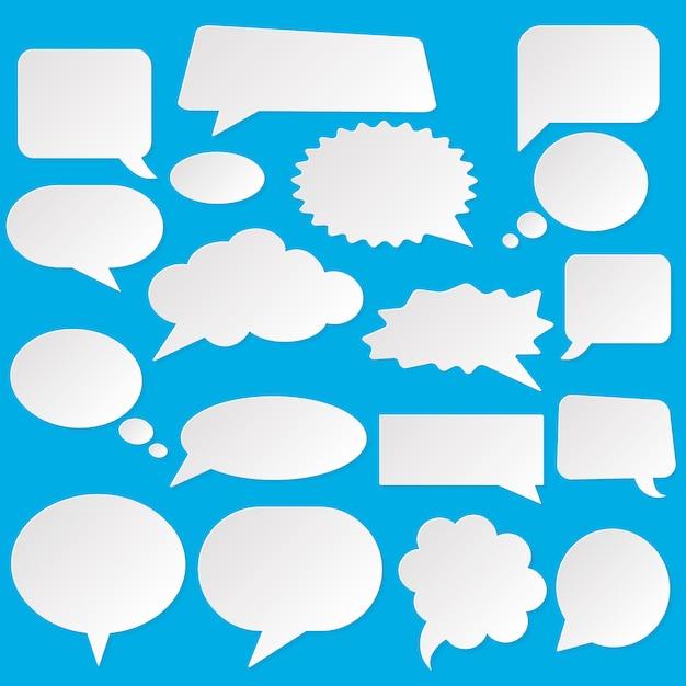 Ilustración de burbujas de estilo cómic. explosión de dibujos animados, discurso aislado sobre fondo. spech bubble en el arte pop Vector Premium