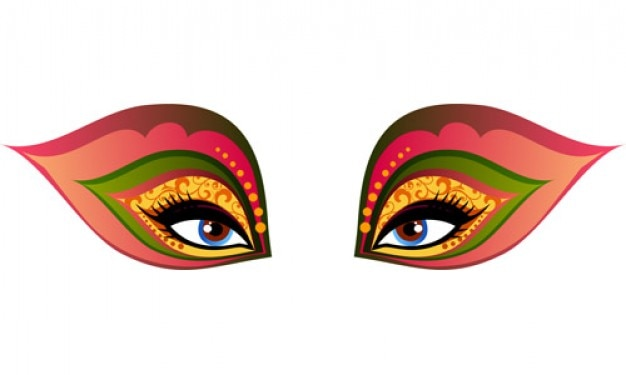 Ilustración Carnaval Máscara vectorial