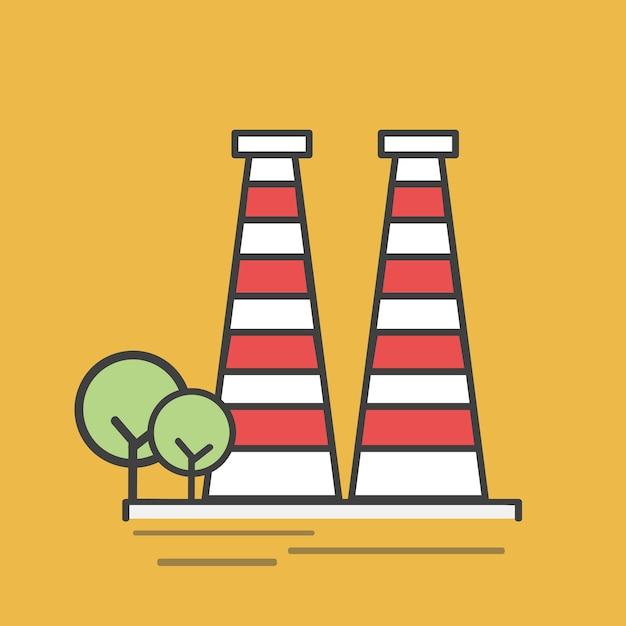 Ilustración de una central eléctrica vector gratuito