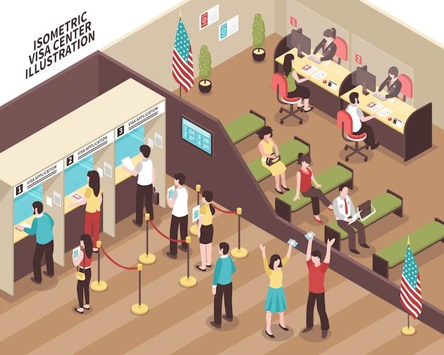 Ilustración del centro de visas vector gratuito