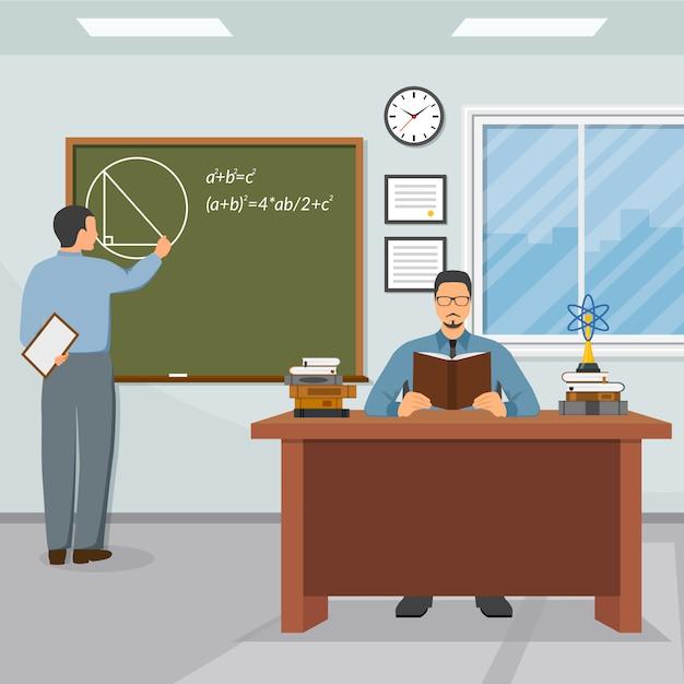 Ilustración de la ciencia y la educación vector gratuito