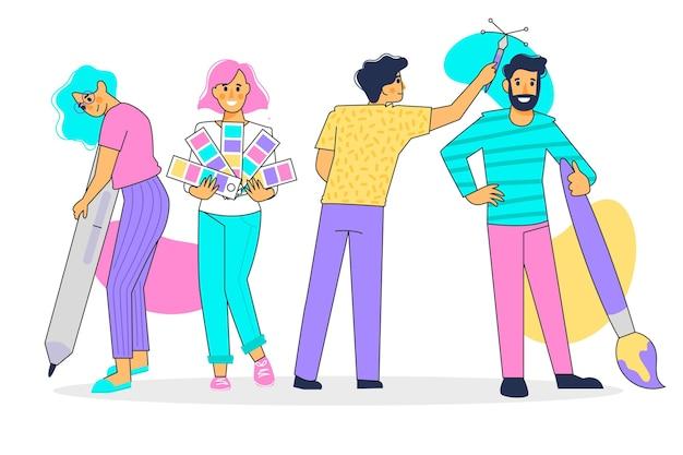 Ilustración de colección de diseñador vector gratuito