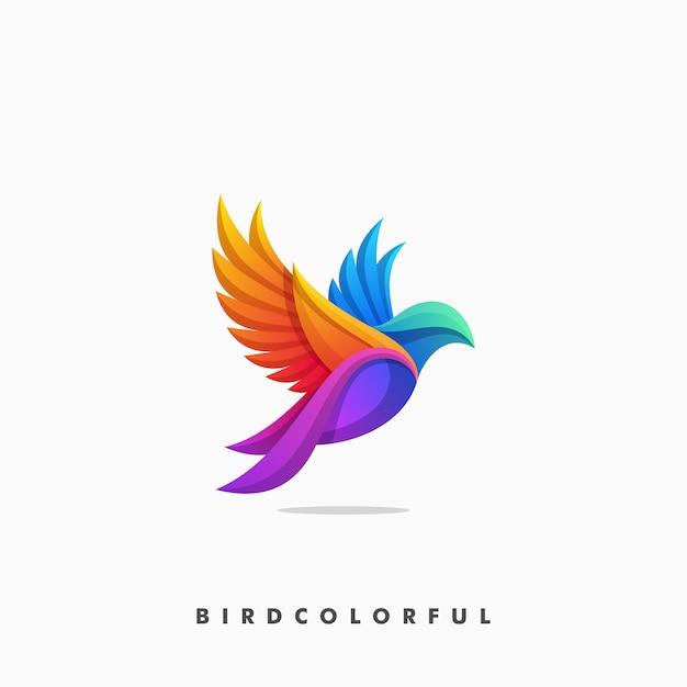 Ilustración colorida del concepto del pájaro Vector Premium