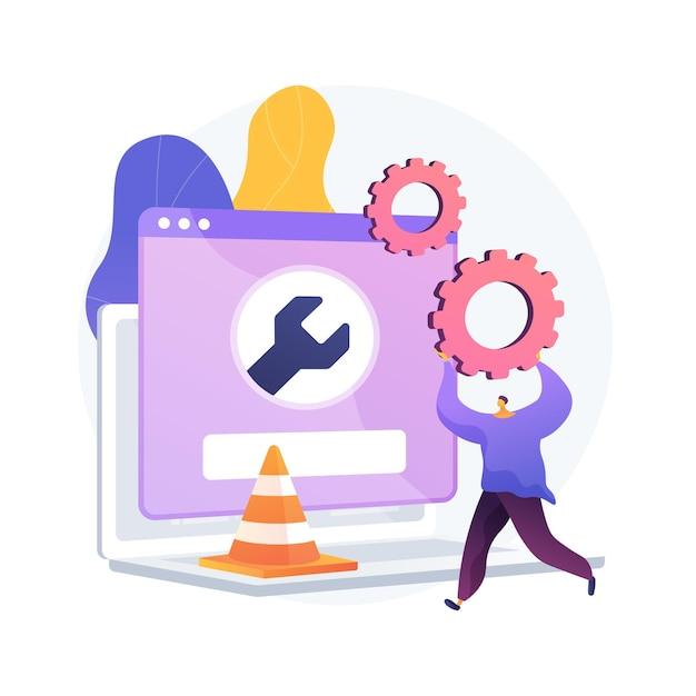 Ilustración de concepto abstracto de mantenimiento de sitio web vector gratuito