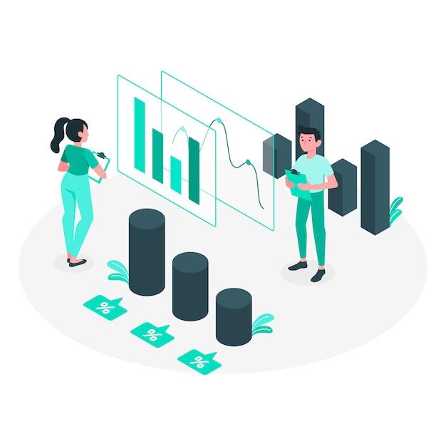 Ilustración del concepto de analíticas vector gratuito