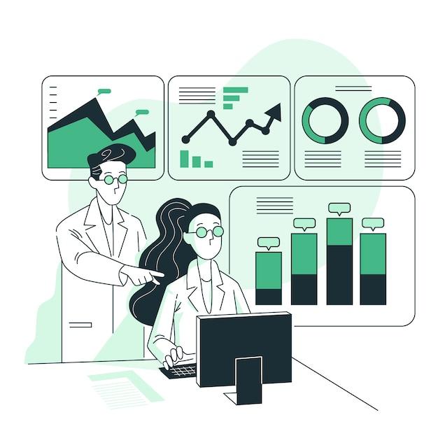 Ilustración del concepto analíticas vector gratuito